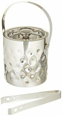 Elegance Bolt Hammered 6-Inch Stainless Steel Doublewall Ice Bucket with