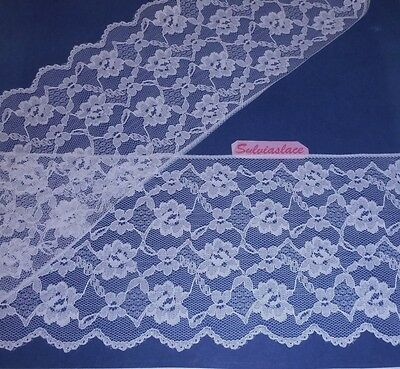3  metres  of   Pretty White   Flat    Lace    14.50   cm wide