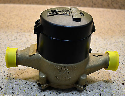 "NEW Brass Master Meter BL05 Water Meters 5/8"" x 3/4"""