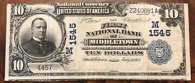 1902 $5 (( First National Bank of Middletown Ohio )) CHARTER 1545