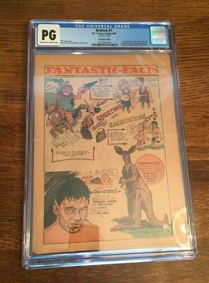 Batman Comic 1 1940 Page 25 CGC NG/PG!  Perfect Condition!⭐️⭐️⭐️