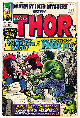 Journey Into Mystery #112 F/vf 7.0 1St Hulk Vs. Thor Stan Lee, Kirby Marvel 1965