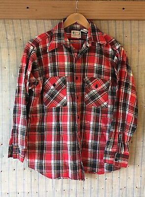Vintage 60's-70's Five Brother Flannel Short Pine Label L