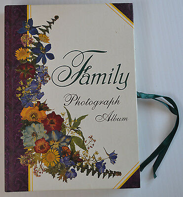 FAMILY PHOTOGRAPH ALBUM Vintage Style with Cutouts & Floral pattern