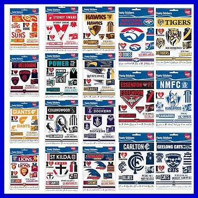 AFL Footy Stickers Sticker Sheet - Select Team
