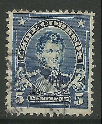 CHILE. 1911. 5c Blue. Variety Coarse Impression from Badly Cleaned Plate