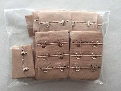 SET OF 14, Nude, 2 Hooks Bra Strap Extender Back Extension Underwear Belt