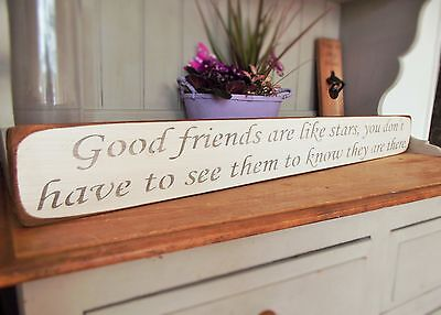 Shabby Chic Wall Art Wood House Friend Sign Plaque Gift Present By Austin Sloan