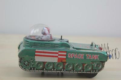 F 042 Modern Toys Trade Mark Tin Toy Space Tank Japan Blech