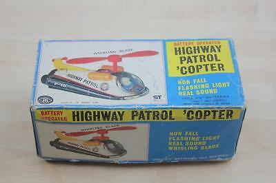 F 045 Modern Toys Trade Mark Tin Toy Highway Patrol Copter P-10 Japan Blech