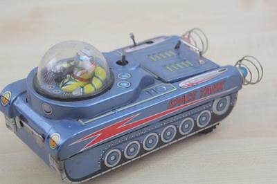 F 048 Modern Toys Trade Mark Tin Toy Space Tank Japan Blech 70Er Jahre