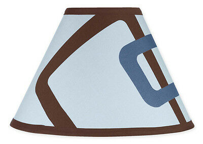 New Sweet Jojo Designs Lamp Shade for Geo Blue Brown Baby Kids Teen Bedding Set