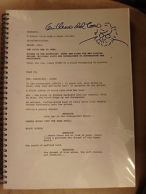 Pan's Labyrinth script signed by Guillermo del Toro + bonus signed A5 flyers