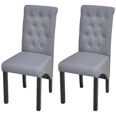 fabric upholstered dining chair high back dark grey kitchen dining
