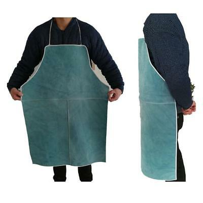 Blue Welder Apron Blacksmiths Welding Protection Flame Resistant Bib