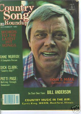 Tom T Hall Covers Country Song Roundup Magazine November 1982 Anne Murray