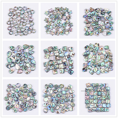 Natural Gemstone Abalone Shell Heart Square Oval Coin Spacer Loose Beads 10Pcs