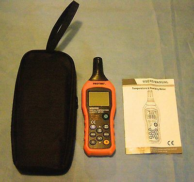 Protmex MS6508 Digital Temperature / Humidity Meter with Case New