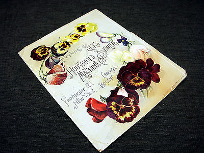 Antique Household Sewing Machine Co Advertising Promotion Trade Card Treadle