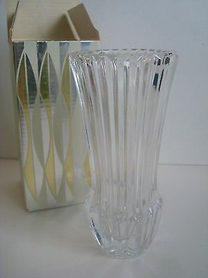 NIB Vintage Avon Crystal Bud Vase 1977 Seasons Greetings