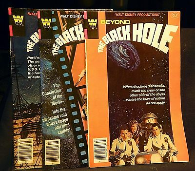 Lot of 3 The Black Hole Movie Comic Books 1980 Issues #1-3 Walt Disney Whitman • $2.99