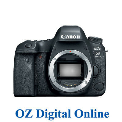 New Canon EOS 6D Mark 2 Mk II 26.2MP Full Frame DSLR Camera Body 1 Yr Au Wty