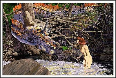BERNIE WRIGHTSON YOU'RE NEW HERE limited edition print #175 Signed 20x30 Mint