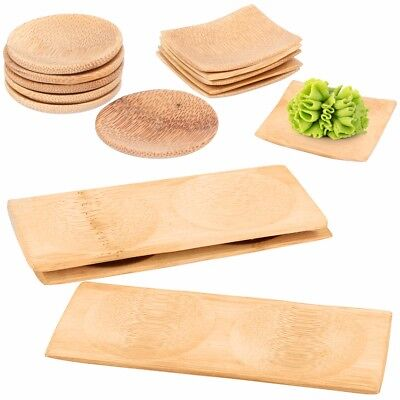 BAMBOO SAUCE DISH Bamboo Small Butter Appetiser Amuse Bouche Food Serving Plate