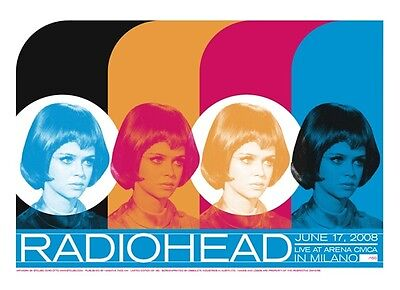 RADIOHEAD signed limited edition concert poster MILANO 2008 GERRY ANDERSON UFO