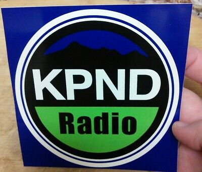 KPND alternative radio station sticker 95.3 FM Deer Park, Washington (CIRCLE)