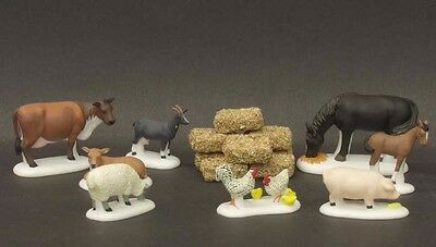 "Department 56 Dickens Village ""Farm Animals"" Heritage Collection NEW in box"