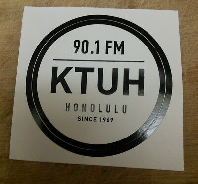 KTUH college radio station sticker 90.1 FM Honolulu, Hawaii (since 1969)