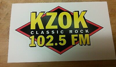 KZOK classic rock radio station STICKER 102.5 FM Seattle, Washington
