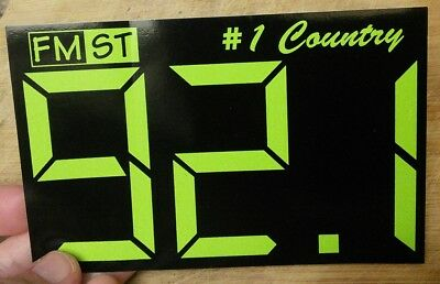 KDQN country radio station sticker 92.1 FM De Queen, Arkansas OLD STYLE
