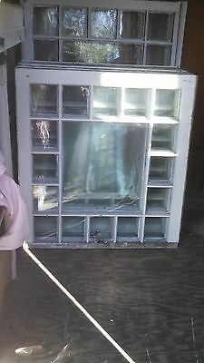 Vintage Antique Clear Glass Window Single Pane Queen Anne Style