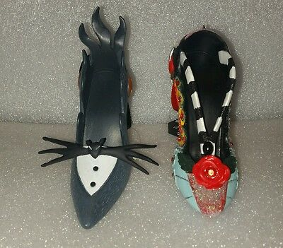 Disney The Nightmare Before Christmas Jack Sally  Shoe Ornament Set Of 2
