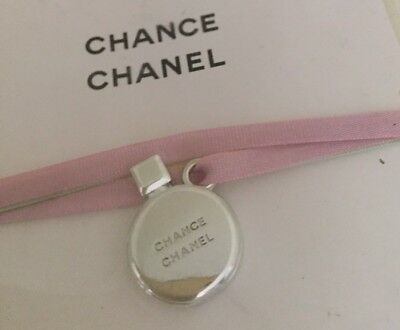 Genuine Chanel Chance Perfume Bottle Shaped Silver Tone Charm