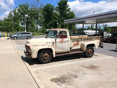 "1953 Ford F-350  1953 Ford F350 9' Express Bed Dumps Flathead Motor ""Rare"""