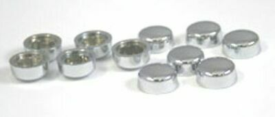 "hex head bolt nut cover(10) dome style 1/2"" electroplated chrome plastic finish"