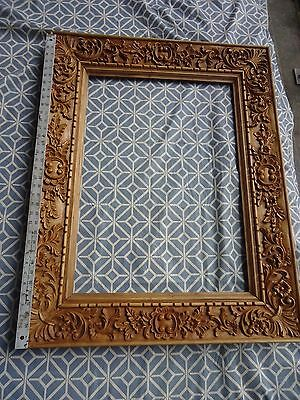 Hand Carved wood Ornate Floral and birds Baroque style Picture Mirror Frame