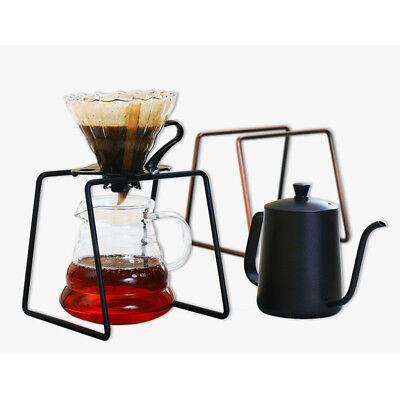Stainless Steel Filter Coffee Dripper Rack Coffee Maker Stand 16cm Black