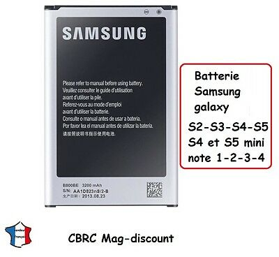 battery for SAMSUNG GALAXY S2 à S4 , mini , note