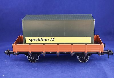 Marklin Maxi - 1 gauge - spur 1 - flat wagon with load - LN