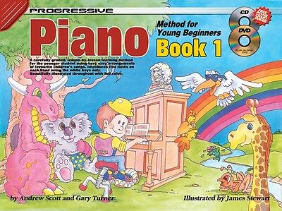 Progressive Piano Method For Young Beginners Book 1 Cd + Dvd Children's Book
