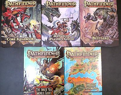 Pathfinder Core Rulebook, Bestiary, Inner Sea World, Advanced Players, Map Folio
