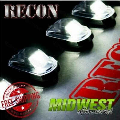 Recon 5 Pc Clear LED Cab Roof Light Kit For 2017-2018 Ford F-250 F-350 SuperDuty