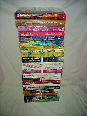 """(CHRISTIAN) """"CHICKEN SOUP FOR THE SOUL"""" series books - lot of 23 - FREE SHIPPING"""