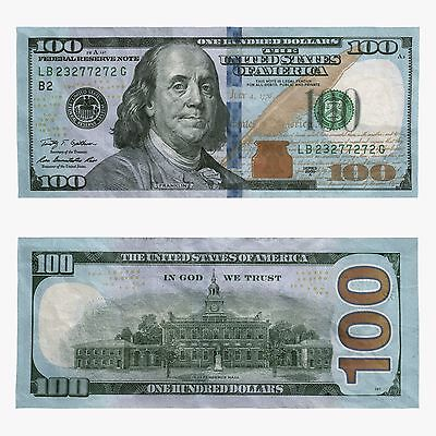 $100 Dollar Bill Federal Reserve Note Lightly Circulated Fast Shipping!
