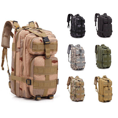 30L Outdoor Military Tactical Molle Backpack Camping Hiking Travel Trekking Bag