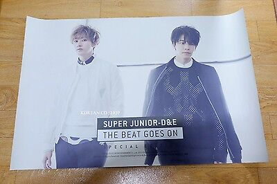 Super Junior-D&E - The Beat Goes On (Special Edition) *Official POSTER* Folded